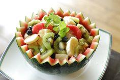Fruit Trifle, Fruit Salad, Fruit Art, Watermelon, Cooking Recipes, Party, Summer, Woodwind Instrument, Deco