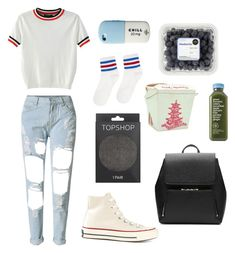 """""""The balcony scene"""""""" by briannavaughn2004 on Polyvore featuring WithChic, Topshop, Converse, Witchery and kidsinthedark"""