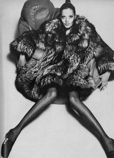 Fashion in fur for Vogue UK, October 1969.