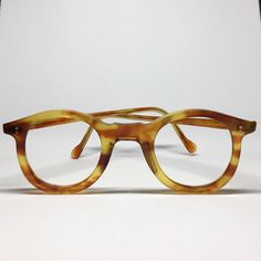 33aec2084f6a Vintage French eyeglasses honey amber panto Hand made in France NOS