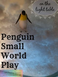 Penguin Small World Play on the Light Table from Still Playing School