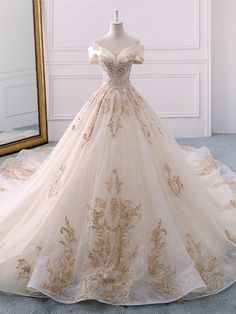 Gorgeous Off the Shoulder Ball Gown Wedding Dress, Long Appliques Bridal Dress N. Gorgeous Off the Shoulder Ball Gown Wedding Dress, Long Appliques Bridal Dress - Sweetheart Wedding Dress, Long Wedding Dresses, Bridal Dresses, Dresses Dresses, Dress Wedding, Wedding Ball Gowns, Winter Wedding Dress Ballgown, Dresses Online, Tulle Wedding