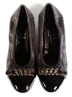 $345 AGL 37 Ballet Flats Cap Toe Brown Leather Flats *EXCELLENT* Womens SIZE 7 #AGL #BalletFlats #DressWorkCampus