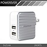 5 Star Plug in and charge up Wall Plug, Travel Wall, Portable Charger, Cell Phone Accessories, Iphone 7, Ipad, Usb, Samsung, Wallet