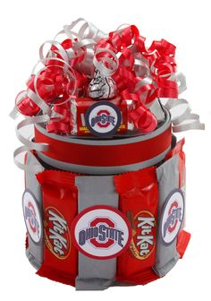 Ohio State Candy Cupcake