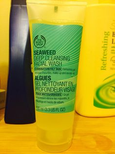 Seaweed deep cleanser - The Body shop ($18) for combination/oily skin