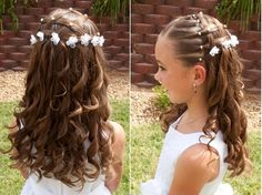 The hairstyle in the picture is a very stylish and beautiful hairstyle and is suitable for example wedding occasions. I know… your wedding is all about you. But don't forget that, when it is wedding season, everyone likes to look good, even the small ones. Little girls love to look like disney princesses and with …