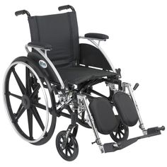 Drive Medical Viper Wheelchair with Flip-back Desk Arms Front Riggings and Adjustable Back Height, Silver
