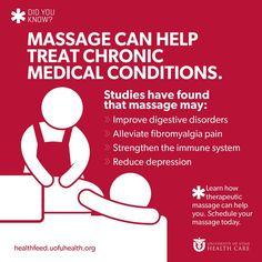 Health Benefits of Massage   Health Feed, Expert Health News & Information; University of Utah Health Care #UtWomensHealth #massage