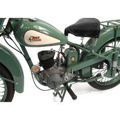 2002 - 1952 Green BSA Bantam motorbike, 15871 recorded miles, registration - AJK one recorded. 125cc Motorbike, Kids Motorcycle, Motorcycle Engine, British Motorcycles, Vintage Motorcycles, Vintage Bikes, Vintage Cars, Harley Davidson Electric Motorcycle, Cars Motorcycles