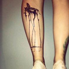"""Los Elefantes"", de Salvador Dali. 41 tatuajes increíbles inspirados en obras de arte tattoo inspired by artwork"