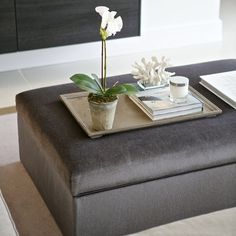 """""""Gorgeous ottoman coffee table in the Cambridge project Interior Accessories, Interior Styling, Interior Decorating, Modern Ottoman, Boutique Interior, Decorating Coffee Tables, Living Room Interior, Decoration, Living Room Designs"""