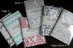 Patterned Letterpress Notebooks