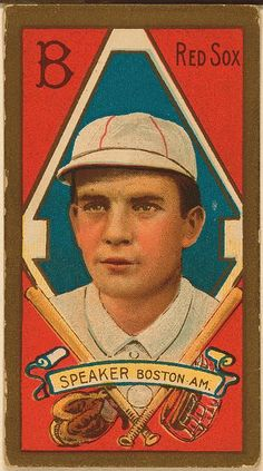 [Tris Speaker, Boston Red Sox, baseball card portrait]