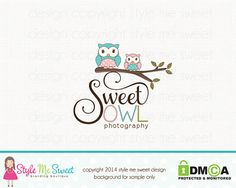 Owl Logo Design Premade Photography Logo by stylemesweetdesign