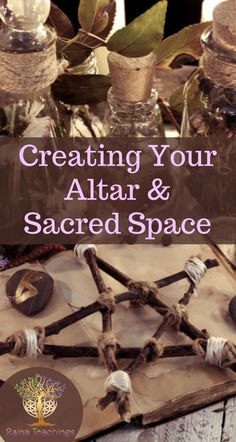 Learn how to set up your altar, what elements and tools go into its creation and how it grounds your spirituality | rainateachings #createyouraltar #sacredspace #elements #wicca #spiritualdevelopment
