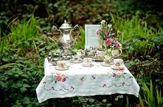 Come, join me in the garden for tea.