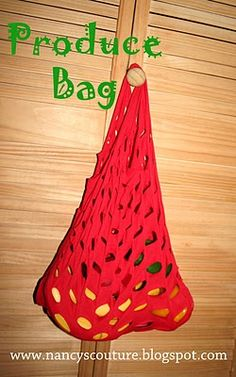 Produce bag from T-shirt