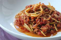 Bikini Bolognese -- this is going to be my first Spiralizer recipe!! Can't wait :D