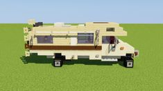 Custom Ford Motorhome Minecraft Project - Minecraft World Minecraft Mods, Minecraft City Buildings, Minecraft Medieval, Minecraft Plans, Minecraft Tutorial, Cool Minecraft Houses, Minecraft Architecture, Minecraft Blueprints, Minecraft Crafts