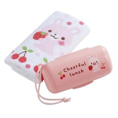 kawaii rabbit strawberry towel with bee box set from Japan