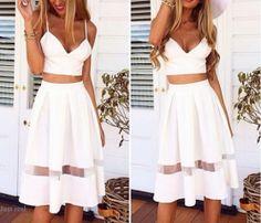 crop top two piece dress