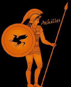 """Achilles: From the Greek Αχιλλευς (Achilleus) which is of unknown meaning, perhaps derived from Greek αχος (achos) """"pain"""" or else from the name of the Achelous River. Ancient Greek Art, Ancient Greece, Greek History, Ancient History, Greek Mythology Art, Trojan War, Trojan Horse, Mycenaean, Greek Pottery"""