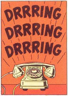 Vintage phone graphic - drrrring!