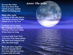 Christin's Poems About Love And Life: Across The Miles