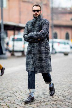 16 пальто с орнаментом со стритстайл-фотографий
