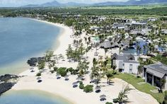 Aerial view of Long Beach Golf & Spa Resort, Mauritius ... Feel like spending your holidays here ? #beach #luxury #lifestyle #Mauritius  http://www.longbeachmauritius.com/