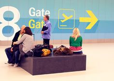 How fun to design wayfinding for an airport. The size would be daunting but exciting too.