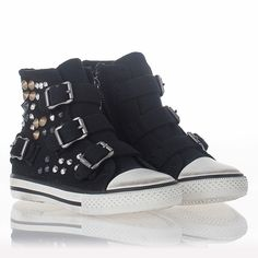 Comfortable Funky Sneaker Black Canvas 310448 Popular | Ash Shoes For Children