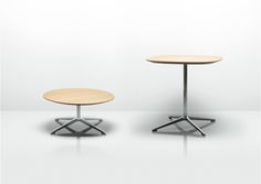 Complementing the Open seating range, the Open collection of occasional tables has a striking polished aluminium base with a choice of top shapes. Available in three different heights, they are perfectly suited to meeting, dining and breakout areas in a multitude of environments.