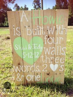 Maybe this, next to my ceremony backdrop, instead of the huge wall thing.Personalized Wedding Pallet by helloLouLou on Etsy, via Etsy.... Christina might be able to make it for me :)