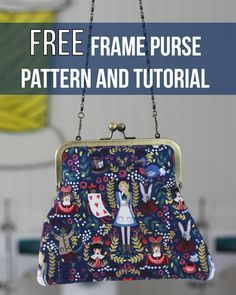 FREE Pattern and Tutorial to make your own frame purse! Purse Patterns Free, Bag Pattern Free, Bag Patterns To Sew, Sewing Patterns, Coin Purse Tutorial, Pouch Tutorial, Couture Vintage, How To Make Purses, Diy Purse