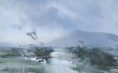 "Saatchi Art Artist Chris Robinson; Painting, ""Flooded field in the Chilterns"" #art"