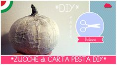 ZUCCHE di CARTA PESTA shabby&chic #cartapesta #zucca #halloween #shabby&chic #crafting #DIY #fai_da_te #Fantasvale Halloween, Paper Mache, Pesto, Christmas Bulbs, Shabby Chic, Crafting, Holiday Decor, Flowers, Household