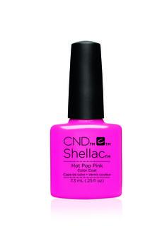cnd shellac garden muse hot pop pink