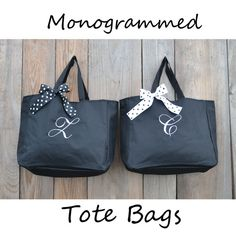 6 Personalized Bridesmaid Gift Tote Bags by PersonalizedGiftsbyJ