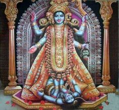 Goddess Kali and Lord Shiva