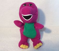 "Barney the Purple dinosaur 8"" bean bag plush toy doll"