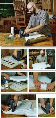 Upholstering Slip Seat - Woodworking Tips and Techniques | WoodArchivist.com