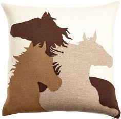 Rani Arabella Taupe Horse Pillow