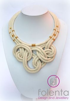 Natural rope necklace