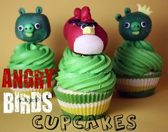 Angry Birds Cupcakes - Confessions of a Cookbook Queen