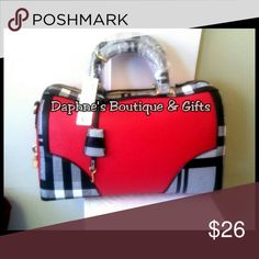 Purse/Pocketbook Red and Black/White Plaid Bags Totes