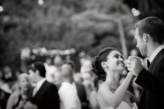 style me pretty - real wedding - usa - california - laguna beach wedding - the bride's brother's home - bride & groom - first dance