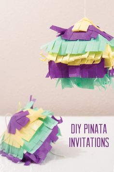 DIY Pinata Birthday Party Invitation