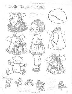 Dolly Dingle's COUSIN April 1927 >< Miss Missy Paper Dolls: June 2015